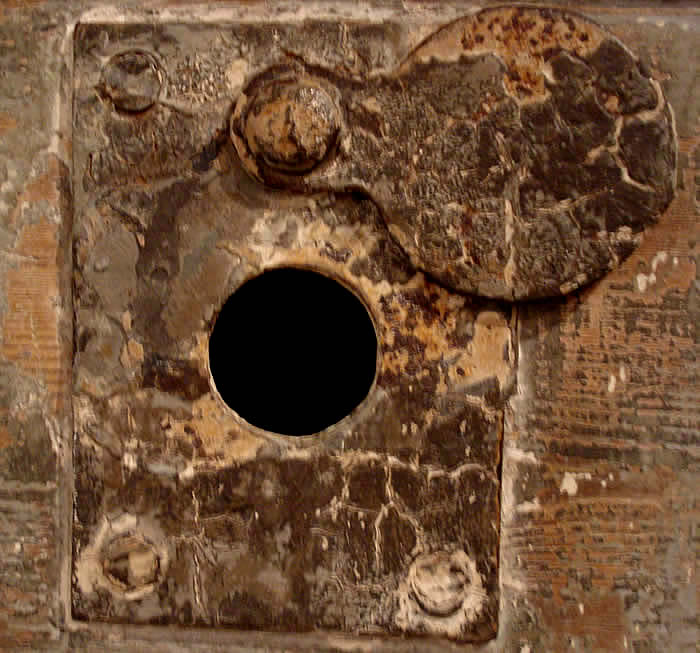 Cell Door and peep hole. Bodmin Jail
