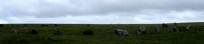 The Stannon Circle Bodmin Moor.